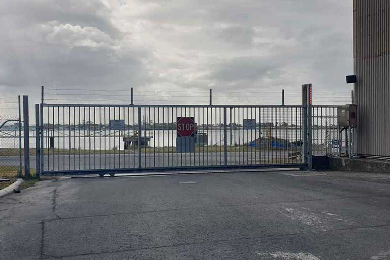 Access Control Security Services Intruder Detection Galvanised Steel Gate