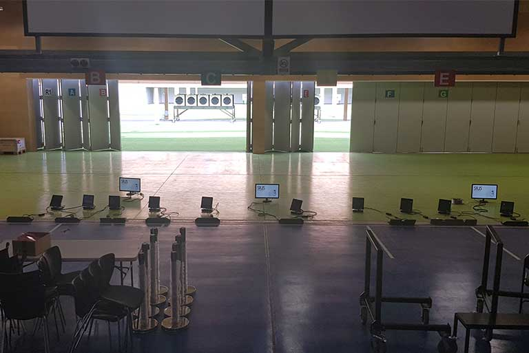 CGGC2018 Commwealth Games Gold Coast Belmont Shooting Complex Fibre Hauling Network Cabling Communications Network Infrastructure