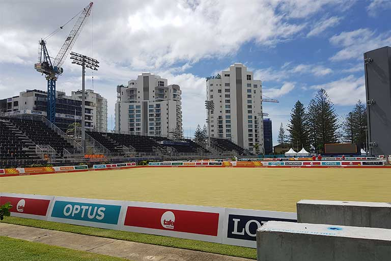 CGGC2018 Commwealth Games Gold Coast Broadbeach Bowls Network Cabling Communications Network Infrastructure