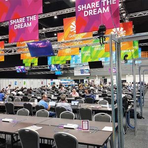 CGGC2018 Commwealth Games Gold Coast Media Centre Broadcast Centre Network Cabling Communications Network Infrastructure