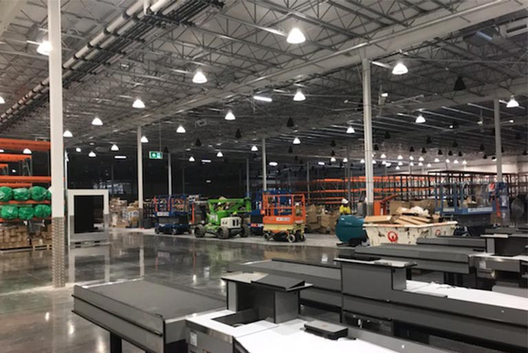 Costco Warehouse IT Fibre Optic Cabling Commercial Cabling