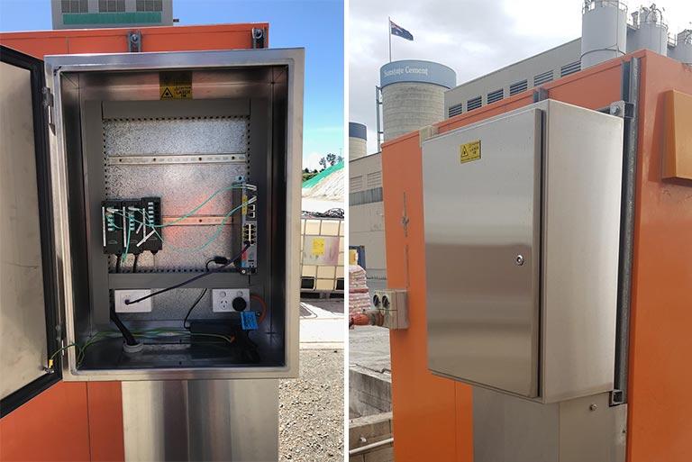 Sunstate Cement Blown Fibre Weighbridge Optical Fibre Custom Cabinets Data Networks Communication Infrastructure